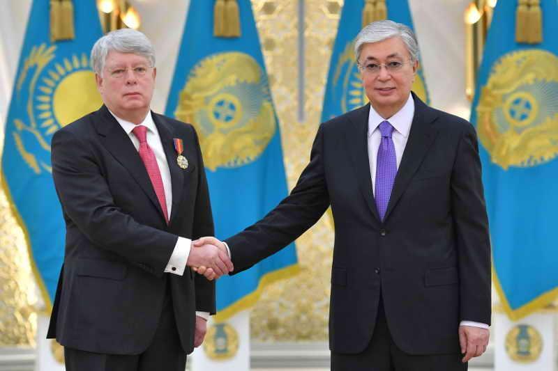 Russian Ambassador to Kazakhstan awarded Order of Dostyk, degree II