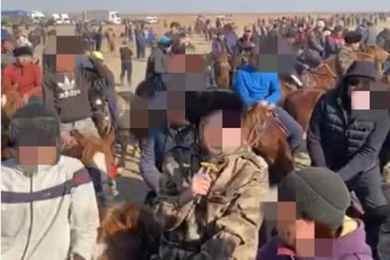 Два кокпара с 300 участниками остановили полицейские в Туркестанской области