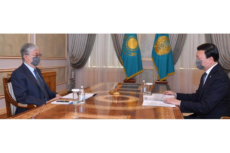Алексей Цой Мемлекет басшысына елдегі эпидемиологиялық жағдайды баяндады