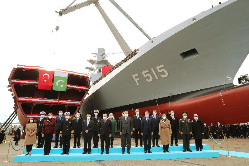 Первый фрегат собственного производства спустили на воду в Турции