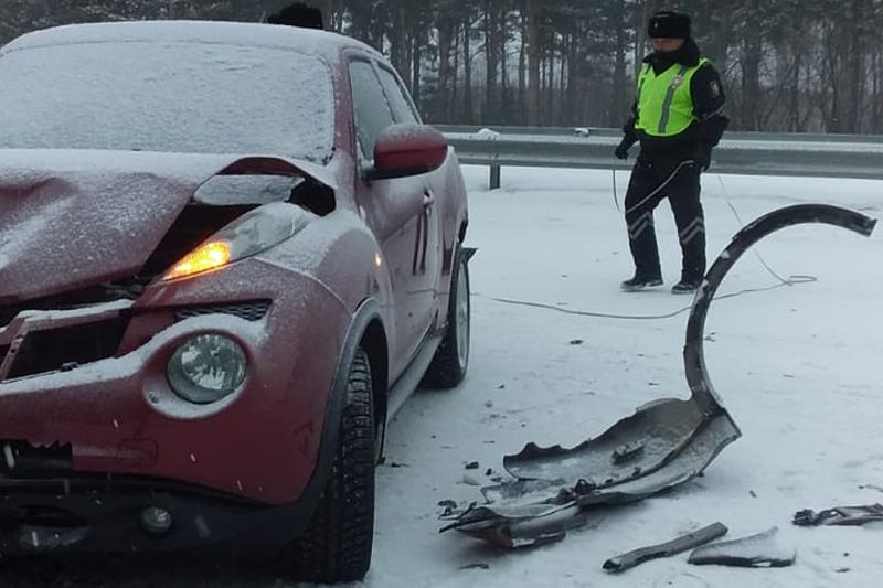 Массовая авария произошла возле Петропавловска