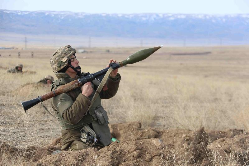 Боевое слаживание подразделений РгК «Юг» проходит на полигонах Жамбылской области