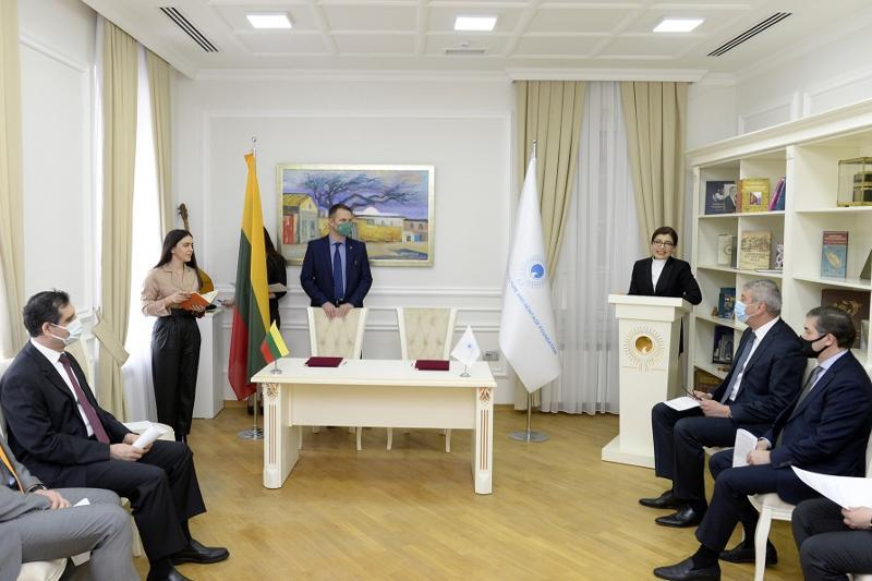 Turkic Culture and Heritage Foundation, Lithuanian Embassy in Azerbaijan sign memo of coop
