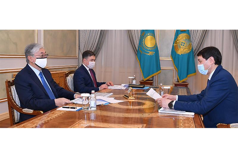 Глава государства принял министра финансов Ерулана Жамаубаева