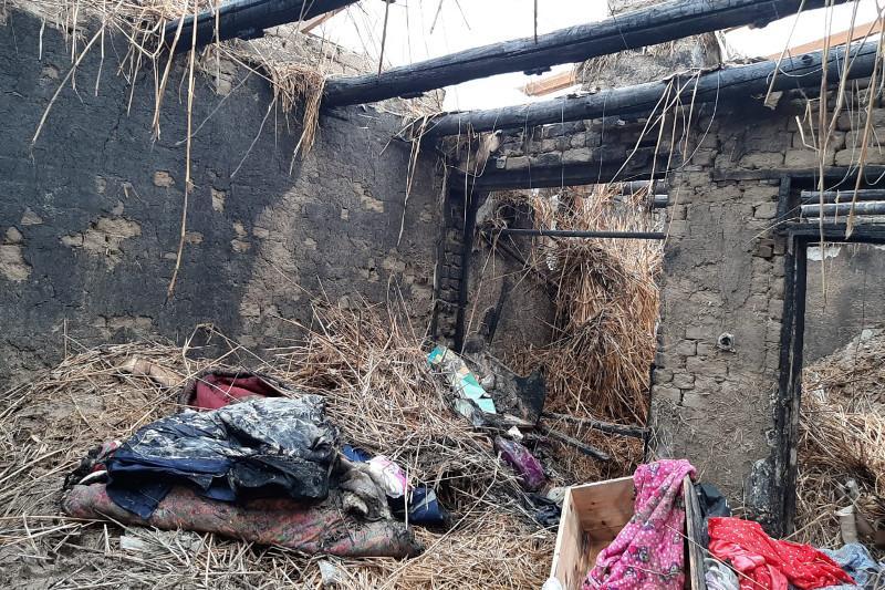 Пострадавшую от пожара в Кызылорде семью обеспечат временным жильем