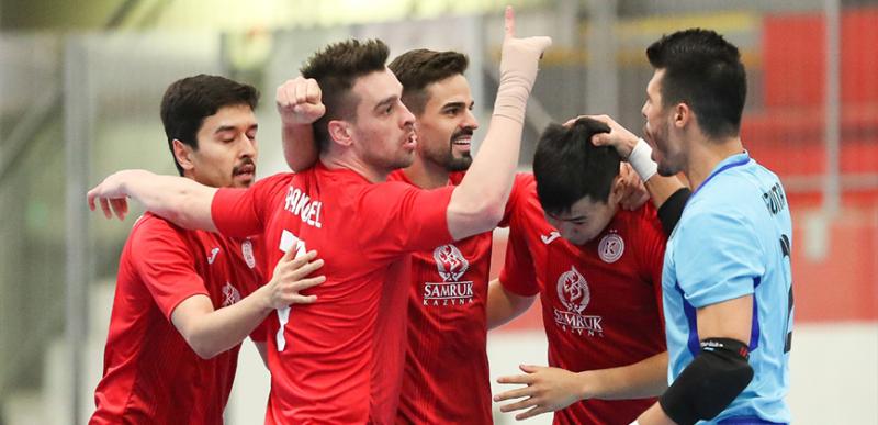 Футзалдан Чемпиондар лигасы: «Қайрат» турнирдің финалдық сатысына шықты
