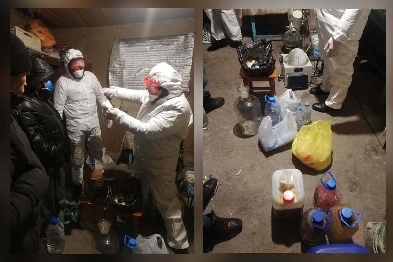 Подозреваемая в изготовлении синтетических наркотиков семья задержана в СКО
