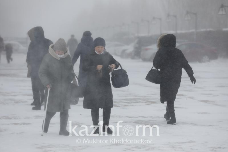 Mets put 5 regions of Kazakhstan on storm alert