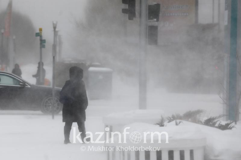 Kazakhstan wakes up to windy Wednesday