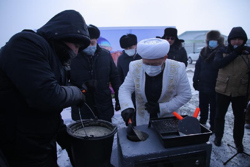 Атырау облысында 500 орындық Қайтпай Сұлтан мешітінің іргетасы қаланды