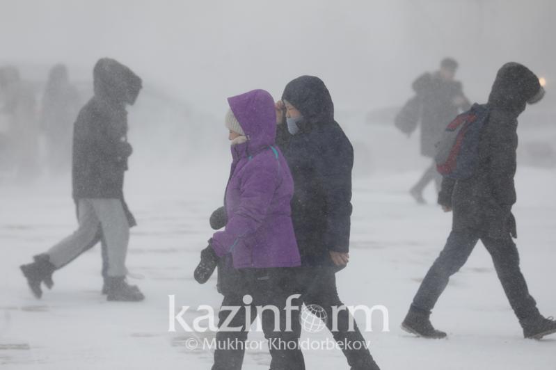 Неустойчивой будет погода в Казахстане 25 февраля