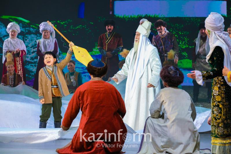 Елордада «Жыр алыбы – Жамбыл» театрландырылған қойылымы көрсетілді