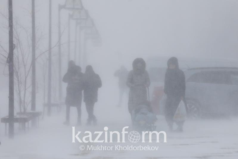 Осадки и гололед ожидаются 1 марта в Казахстане