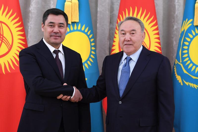 Елбасы встретился с Президентом Кыргызстана