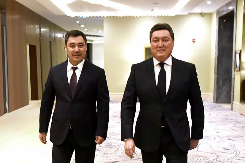 Аскар Мамин провел переговоры с Президентом Кыргызстана Садыром Жапаровым