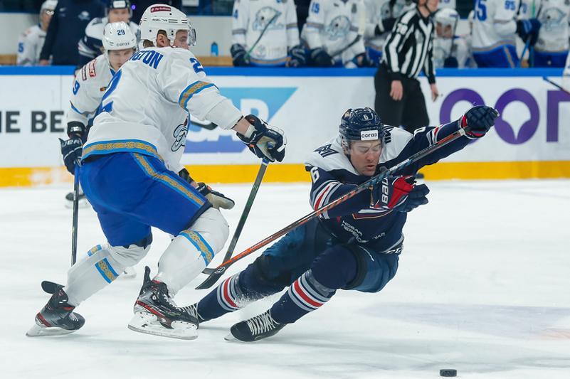 Хоккей: «Барыс» плей-оффтың алғашқы ойынында«Металлургтен» жеңілді