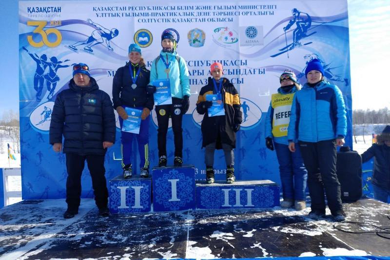 Акмолинские биатлонисты выиграли зимнюю гимназиаду школьников РК