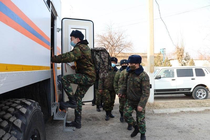 Республиканское командно-штабное учение «Көктем-2021» проходит в Туркестанской области