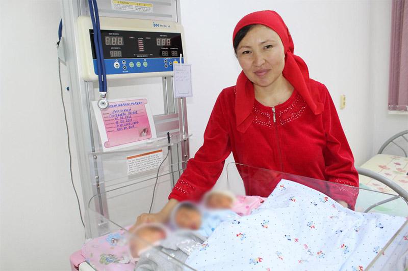 2ndset of triplets born in Turkestan region since beginning of year