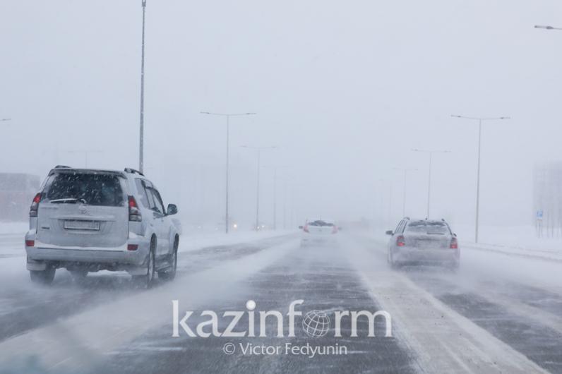 Трассу из Нур-Султана в Темиртау закрыли в связи с метелью