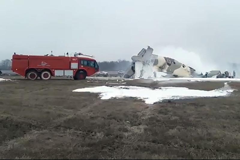 Самолёт КНБ упал в Алматы