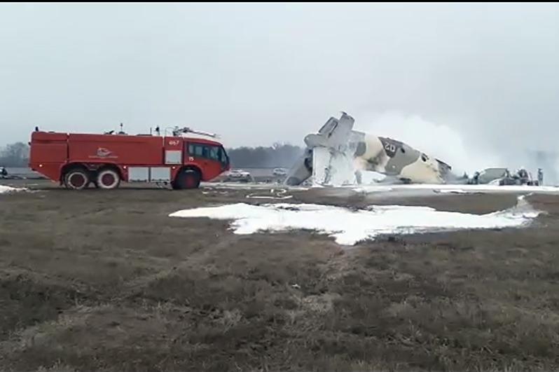 一架An-26军用运输机在阿拉木图坠毁