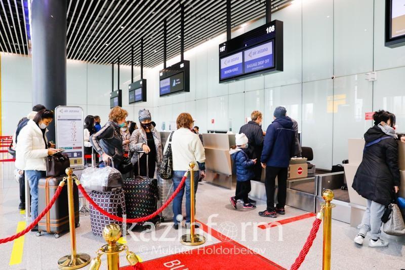 Более 322 тысяч пассажиров прибыло в Казахстан международными авиарейсами