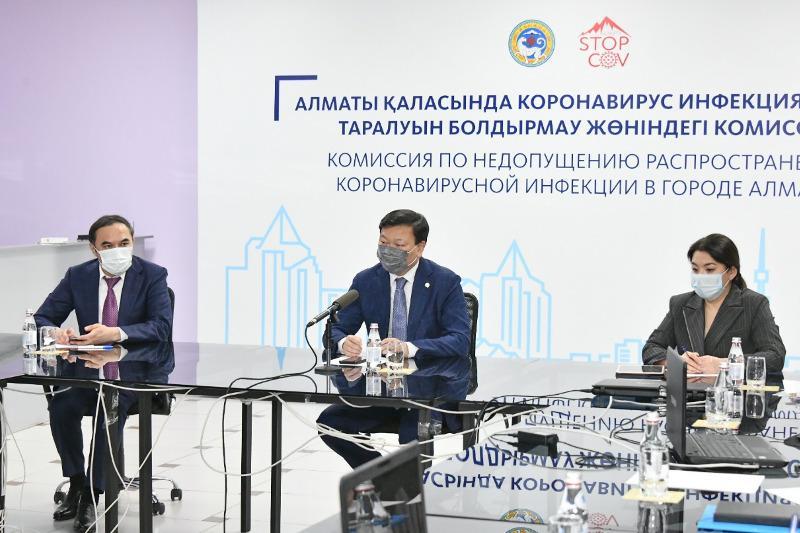 Министр здравоохранения провел выездное заседание штаба по борьбе с КВИ в Алматы