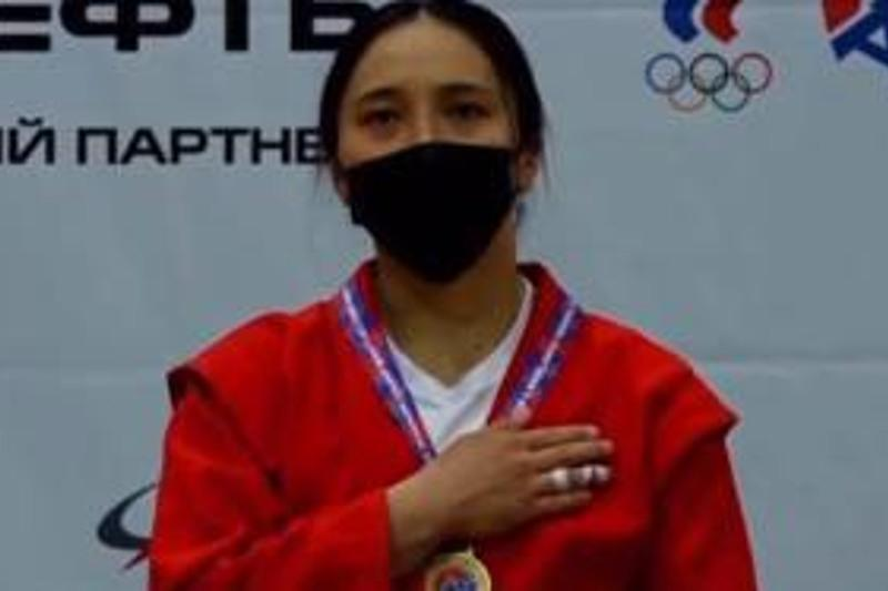 Победительницей Кубка мира по самбо стала карагандинка Ажар Салыкова