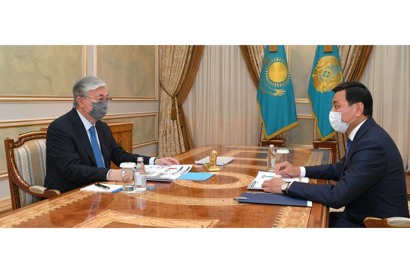 ҚР Президенти пойтахт ҳокимини қабул қилди
