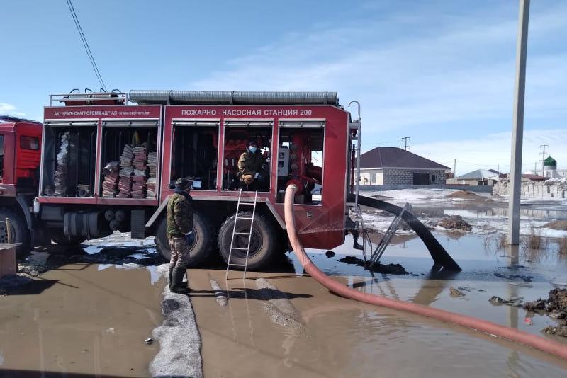 Несколько домов подтопило в пристоличном поселке Коянды