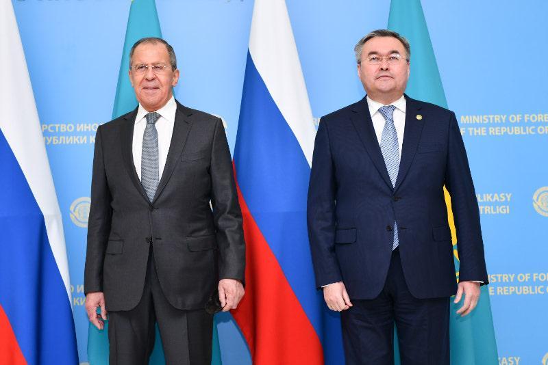 Kazakh, Russian FMs holds talks in Nur-Sultan