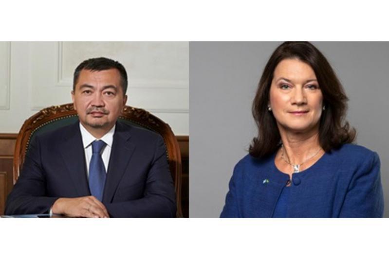 Kazakh Ambassador meets with Swedish FM