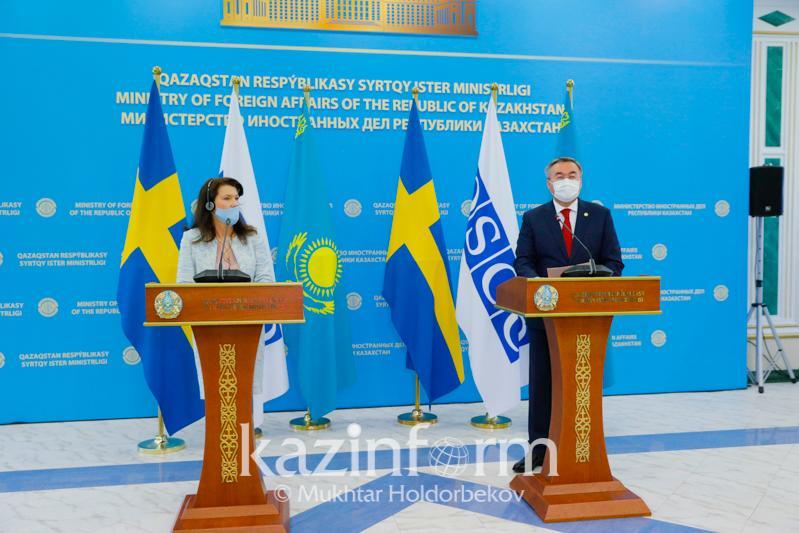 Мухтар Тлеуберди и Анн Линде высоко оценили торгово-экономическое сотрудничество между Казахстаном и Швецией