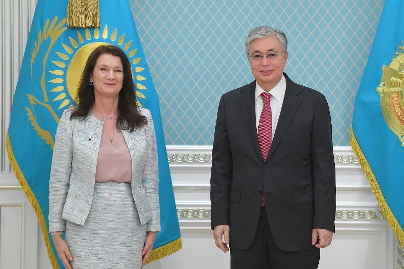 Kazakh President receives Minister for Foreign Affairs of Sweden Ann Linde