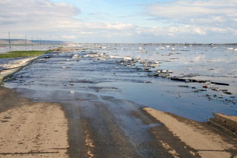 Три акмолинских населенных пункта остаются без автосообщения из-за паводков