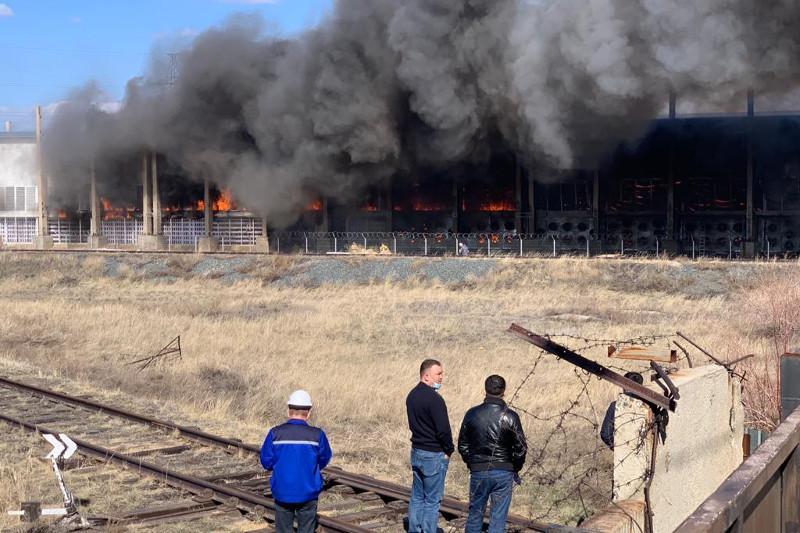 Пожар в майнинговой компании произошел в Павлодарской области