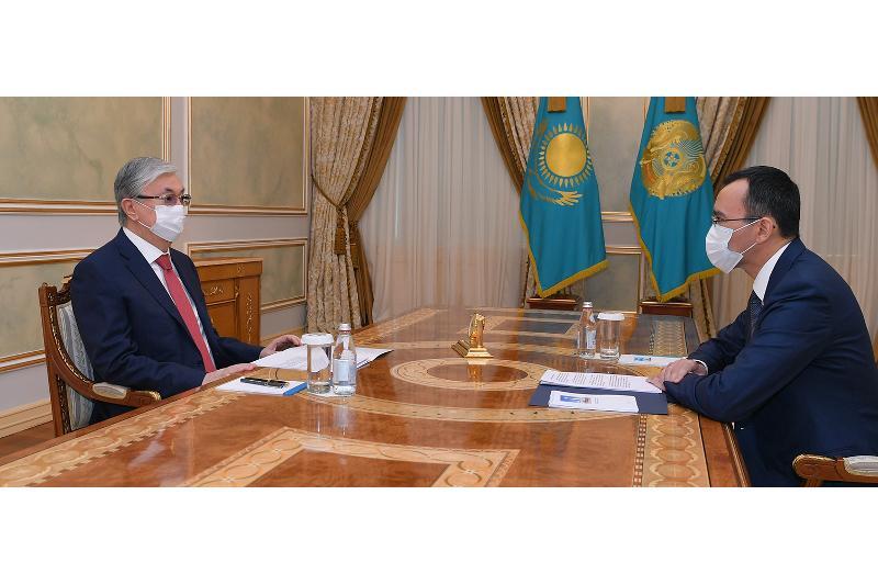 President receives Senate Speaker Maulen Ashimbayev