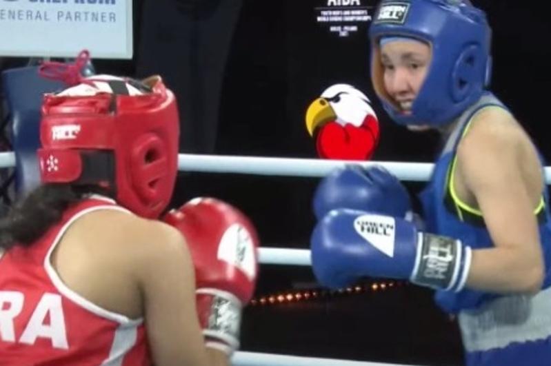 Қазақстандық боксшы қыз Франция чемпионын нокаутқа түсірді
