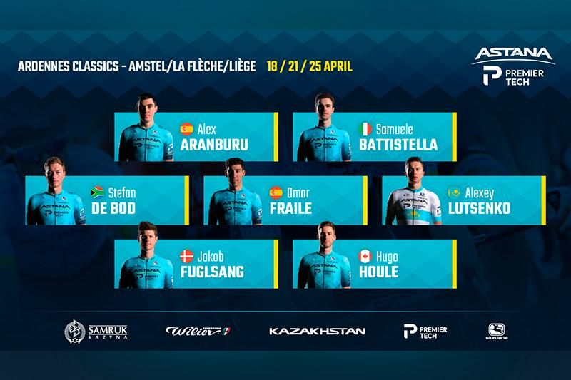Astana's Fuglsang headlines strong team at the Ardennes Classics