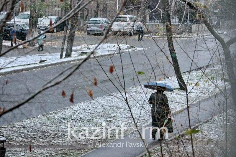Снег и минусовая температура вернутся в Алматы