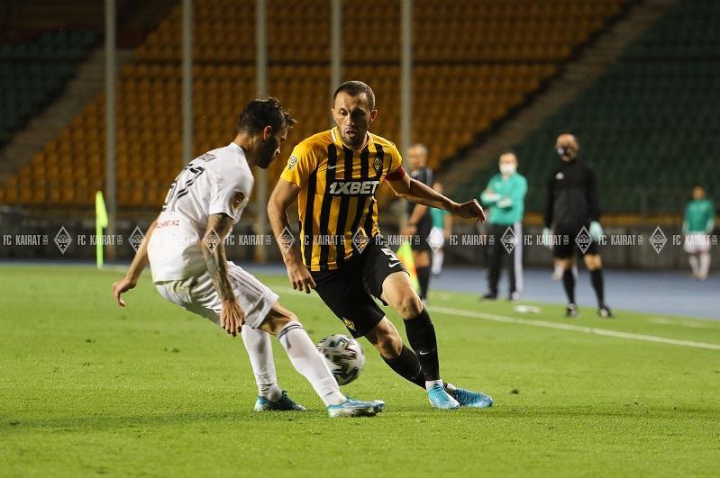 Футболдан Қазақстан біріншілігі: «Қайрат» пен «Тобыл» тең түсті