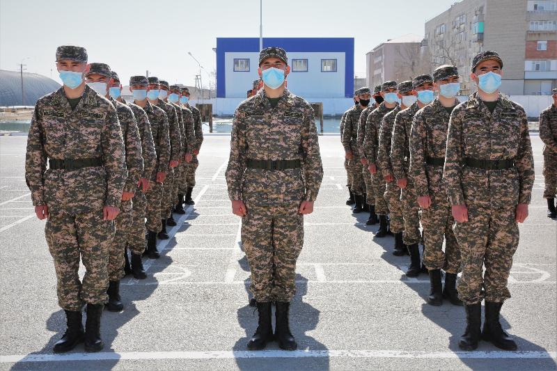 Атыраудағы әскери гарнизонға 100 жас сарбаз келді