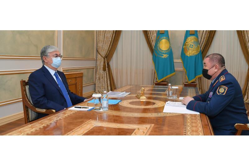 ҚР Президенти Ички ишлар вазирини қабули қилди