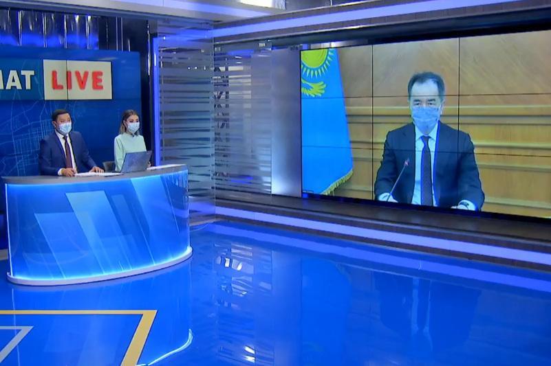 Бақытжан Сағынтаев телеарнаның тікелей эфирінде алматылықтарды вакцинацияға шақырды