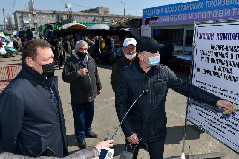 На месте рынка построят многоэтажки в Петропавловске