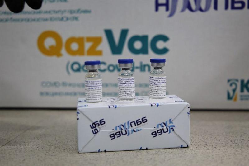 Қозоғистоннинг QazVac (QazCovid-in) вакцинасининг биринчи партияси жўнатилди