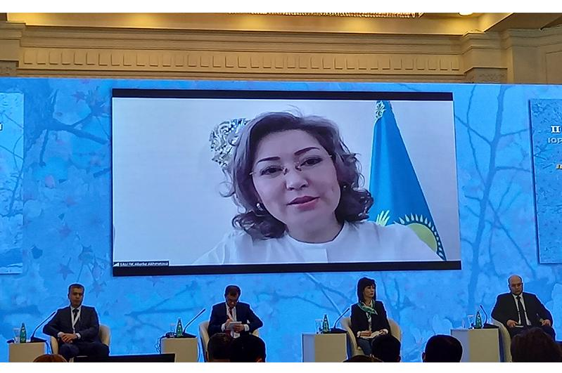 Вице-министр юстиции РК приняла онлайн-участие в Международном юридическом форуме в Ташкенте