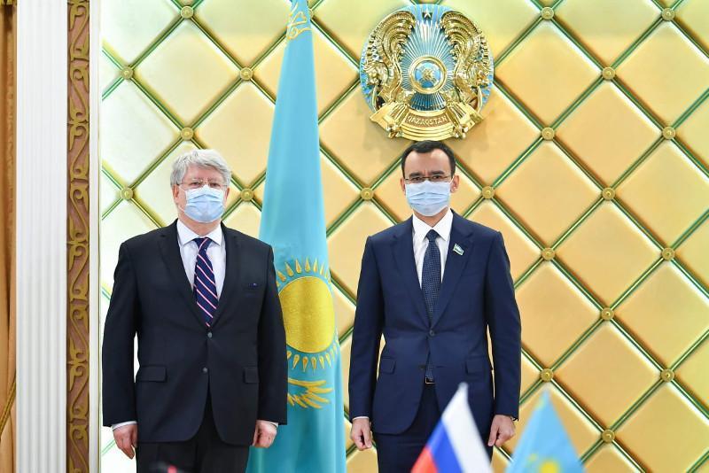 Kazakh Senate Speaker, Russian ambassador meet