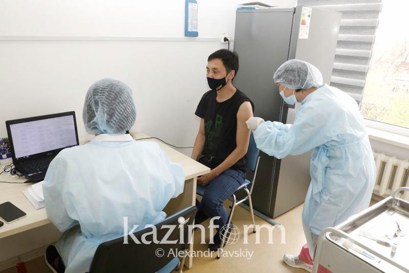 1/5 часть всех вакцинировавшихся против COVID-19 в стране приходится на Алматы